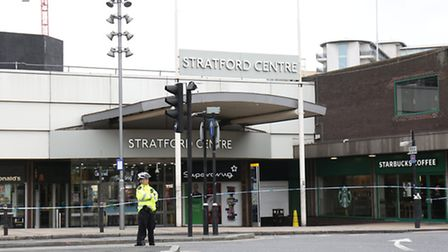 The Stratford Centre has been cordoned off