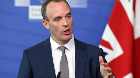 Britain's Brexit Secretary Dominic Raab. Photo: Dursun Aydemir/Anadolu Agency/Getty Images)