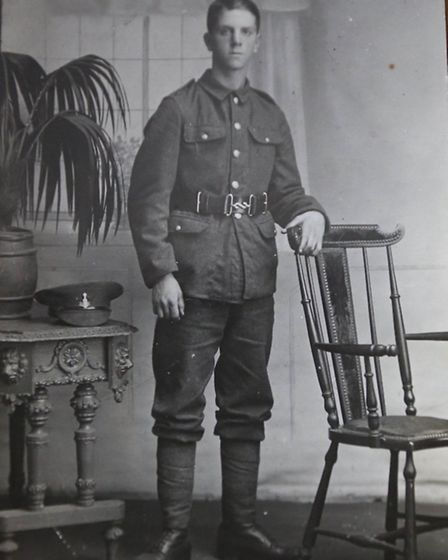 Jackie Morrison's uncle Bill, who fought in the First World War, suffering serious injuries. Two yea