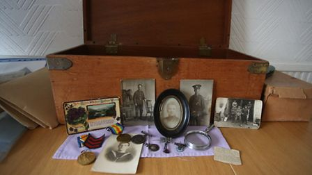 Photographs and artefacts kept by Bill's brother Walter - Jackie's father