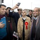 Labour's mayoral candidate Sadiq Khan joins volunteers to door knocking in Ilford North.