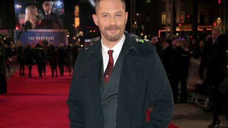 Tom Hardy attending the premiere of his latest Hollywood hit, The Revenant at Empire Leicester Squar