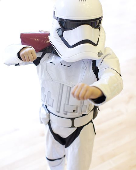Aditya Taneja, from Forest School, Snaresbrook, dresses up as a stormtrooper for the day. Photo: Isa
