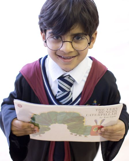 Aadi Lakhani, from Forest School, Snaresbrook, dresses up as Harry Potter for the day. Photo: Isabel