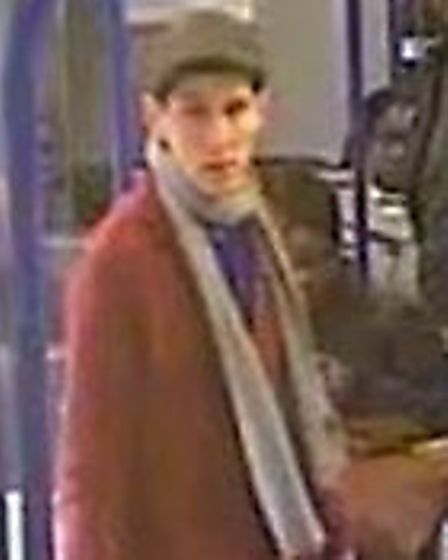 Police want to speak to this man in connection with a robbery