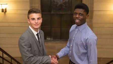 Eddie O'Sullivan and Victor Sarpong both won the seats to represent Havering at the UK Youth Parliam
