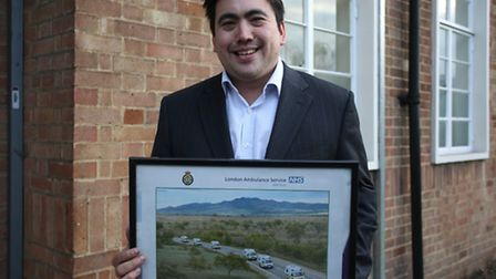 Former Young Citizen Charlie Hogg who won for his involvment in sending ambulances to Mongolio in 20