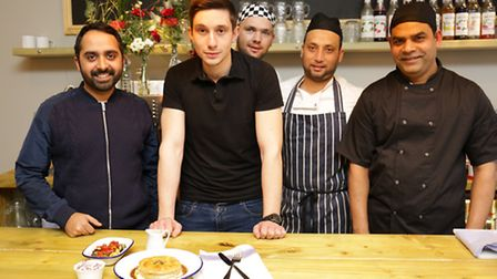 Sonny Sanger (left) with his team at Pie Republic