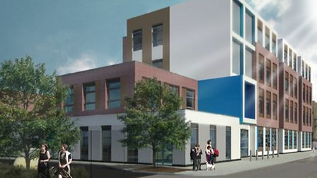 Artist impression of the Concordia Academy on Union Road, Romford, which REAch2 will open in Septemb