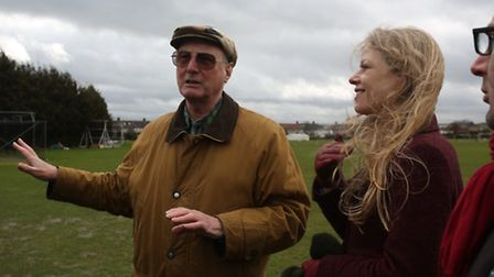 Sian Berry Green Party London Mayoral Candidate visited Oakfields Playing Fields in Barkingside with