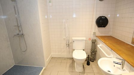 Work included installing a new disabled toilet and shower.
