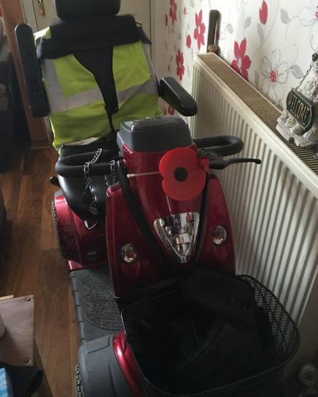 Valerie Wood's scooter