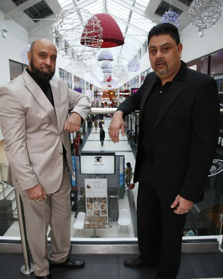 Akhtar and Bob Popat, owners of East Shopping Centre