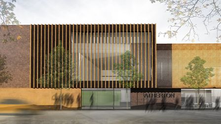 A computer generated image of the new Atherton Leisure Centre