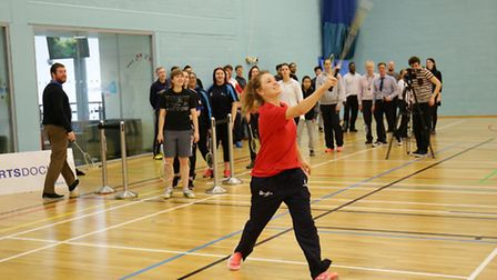 UEL students attempt to break the Guiness world Badminton record
