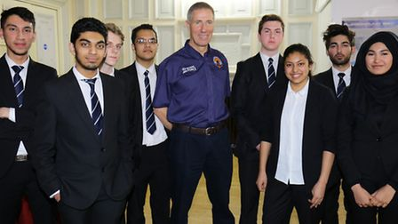 Andy Green with NCS pupils, including Raja Ali (second from right)