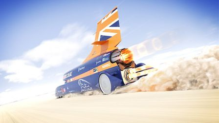 Bloodhound SSC, the car Andy hopes to break his own record with
