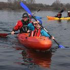 Fairlop Waters hosting an Open Day to promote different outdoor activities.. Adrian and Fraser Simps