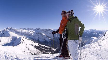 The mountains of the Portes de Soleil, including Morzine, Avoriaz, Les Gets and Switzerland