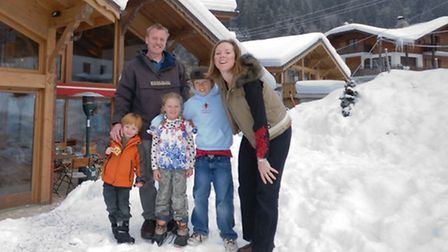 The Eyre family, including mum Francesca, dad Paul and their three children