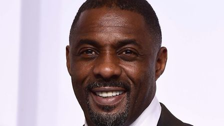 Actor Idris Elba collected his OBE today (picture: PA)