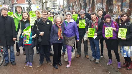 Green Party members from the borough were out in force as the party launched its campaign for the Ci
