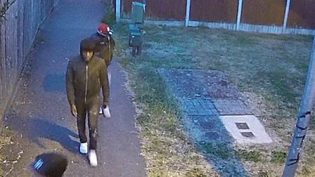 Detectives want to speak to these three men in connection with a shooting in Chigwell in July. Pictu