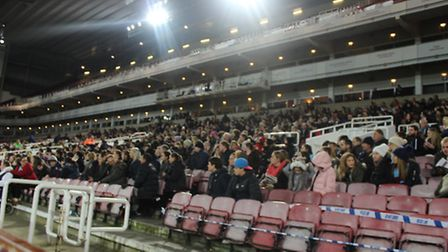 A crowd of 1,741 turned up to watch West Ham's women beat Tottenham at the Boleyn Ground (pic: David