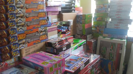 Some of the toys donated by Tesco