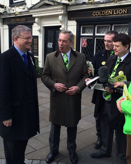 Romford MP Andrew Rosindell meets with the UKIP leader
