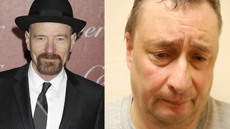 Bryan Cranston, left, plays Walter White in the TV show Breaking Bad, a chemistry teacher who poison