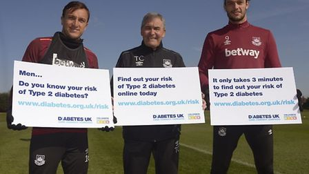 West Ham captain Mark Noble, Tony Carr MBE and Andy Carroll are calling on more men to know their r