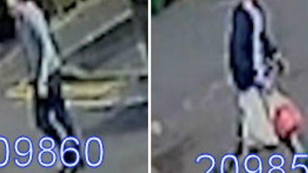 Have you seen these men, wanted by police in connection with a burglary in Canning Town?