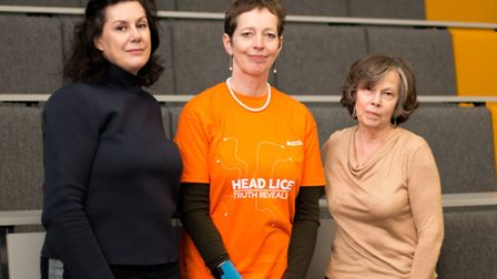 Prof Sally Cutler (centre) and fellow panellists Joanna Ibarra (right) and Dee Wright (left)