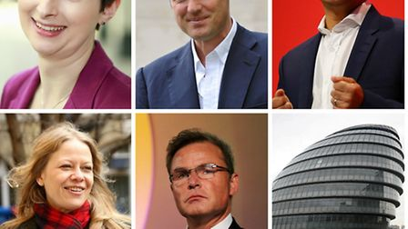 Candidates for Mayor of London 2016. Pictures: PA Images (various)