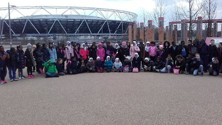 Muslim and Catholic school walks in solidarity around the Olympic Park for charity