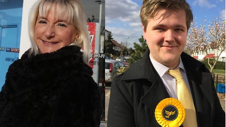 Candidates for Roding ward by-election in May Ruth Clark (Conservative) and Rich Clare (Lib Dem).