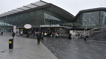 The plaque was unveiled in Stratford station Picture: Nick Ansell/PA