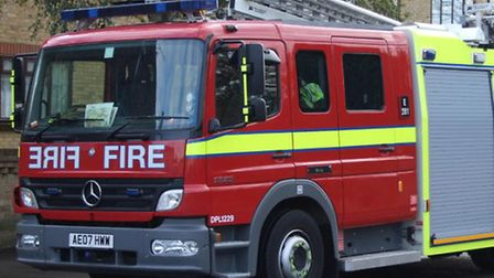 Firefighters attended the fire in Crow Road