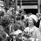Two young men have the Queen rocking with laughter at St Katherine's Dock, where she met the people