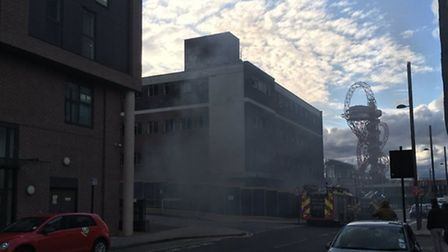 Smoke was seen close to the building (picture: @williamrlward)