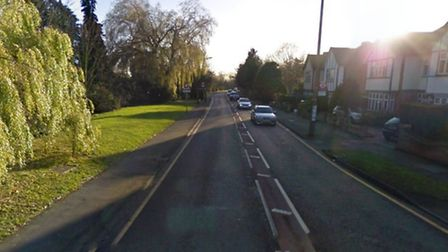 Police are hunting for a suspected burglar, who is believed to have ran towards Hall Lane after a bu
