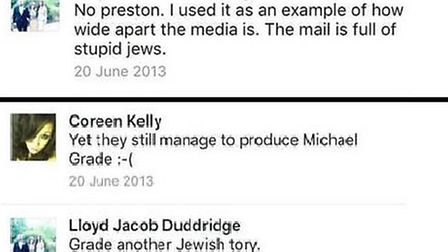 Comments taken from Lloyd Duddridge's Facebook account from 2013, which Tory Cllr Paul Canal claims