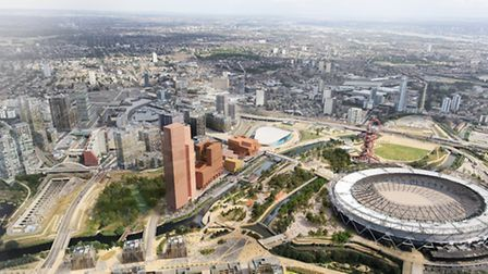 New images of Stratford Waterfront, part of Olympicopolis at Queen Elizabeth Olympic Park