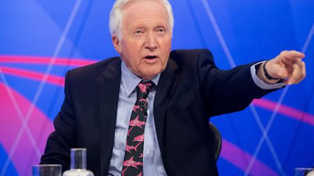 David Dimbleby presenter of BBC One programme Question Time, which will be in Ilford tonight. Pictur