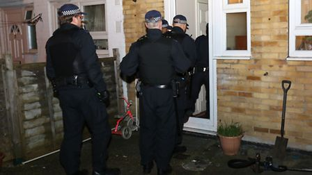 Police carried out a series of dawn raids across Manor Park