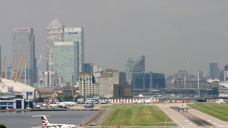 A general view of London City Airport in Newham