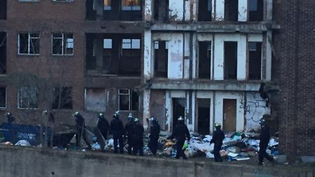 Police carried out a raid on Wingate House