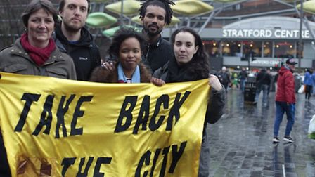 Amina Gichinga, centre, hopes to solve inequality in Newham Picture: Take Back the City
