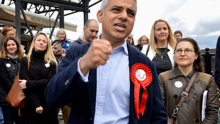 London Mayoral candidate Sadiq Khan campaigning this week